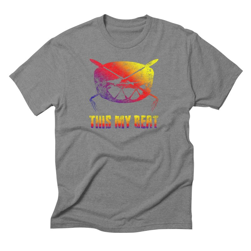 This My Beat in Men's Triblend T-Shirt Grey Triblend by Shawnee Rising Studios
