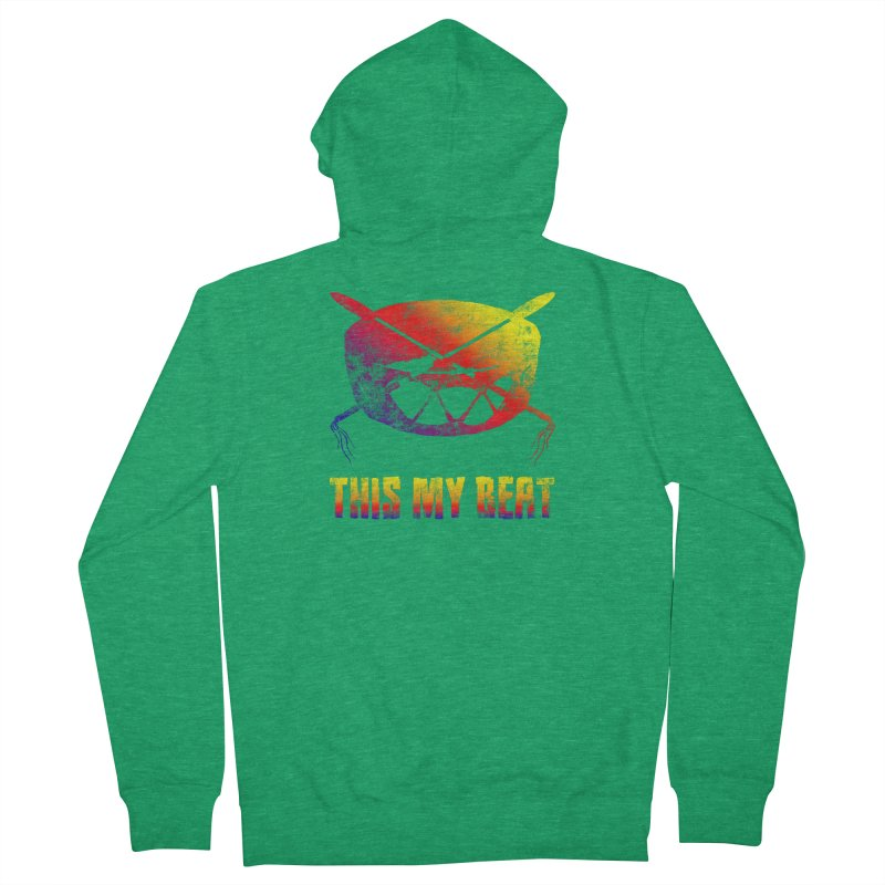This My Beat Men's French Terry Zip-Up Hoody by Shawnee Rising Studios
