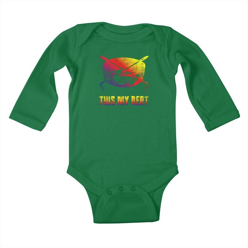 This My Beat Kids Baby Longsleeve Bodysuit by Shawnee Rising Studios