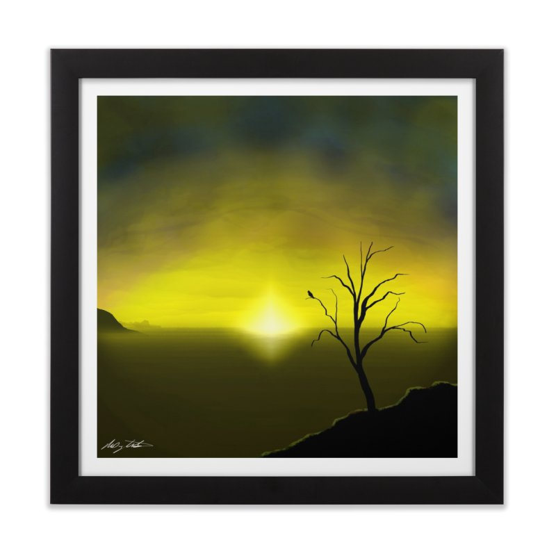 Miliqihe M'skakoke (By The Lake) in Framed Fine Art Print Black by Shawnee Rising Studios