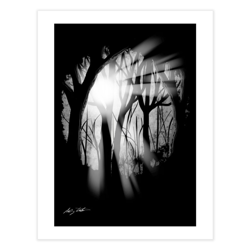 Forest Light Home Fine Art Print by Shawnee Rising Studios
