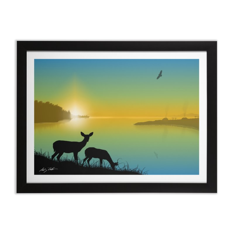 Nenawike Pinesfake (I Saw Them Walking Together) Home Framed Fine Art Print by Shawnee Rising Studios