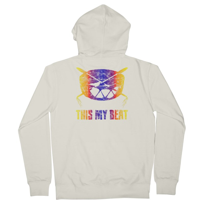 This My Beat #3 Women's French Terry Zip-Up Hoody by Shawnee Rising Studios
