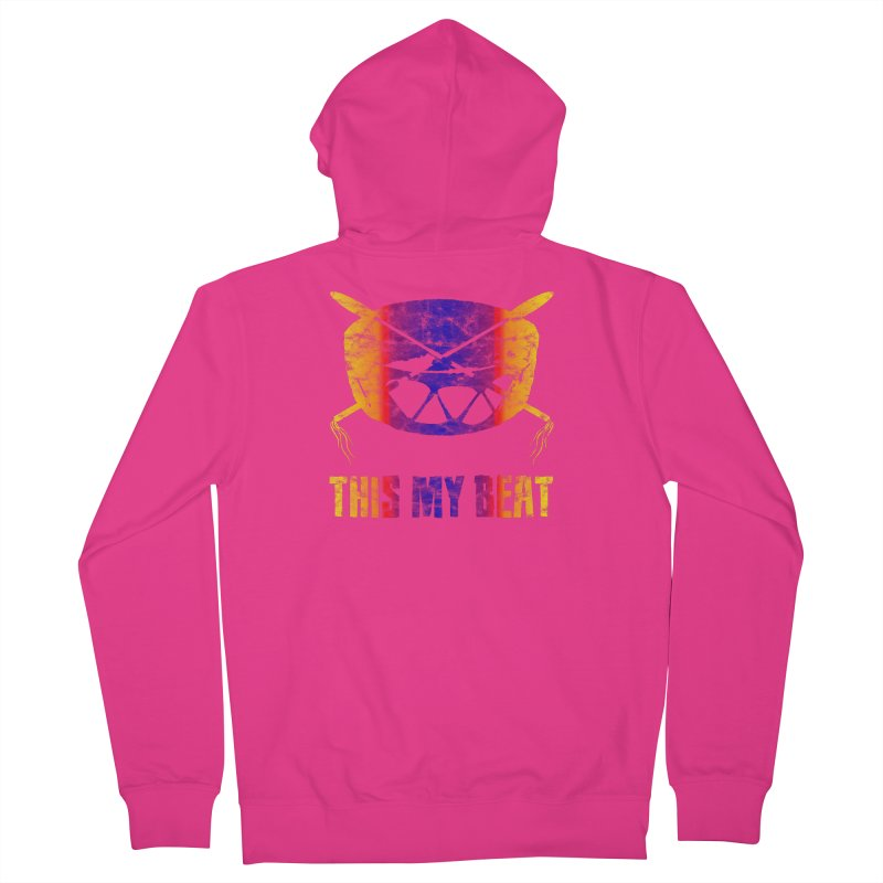 This My Beat #3 Men's French Terry Zip-Up Hoody by Shawnee Rising Studios