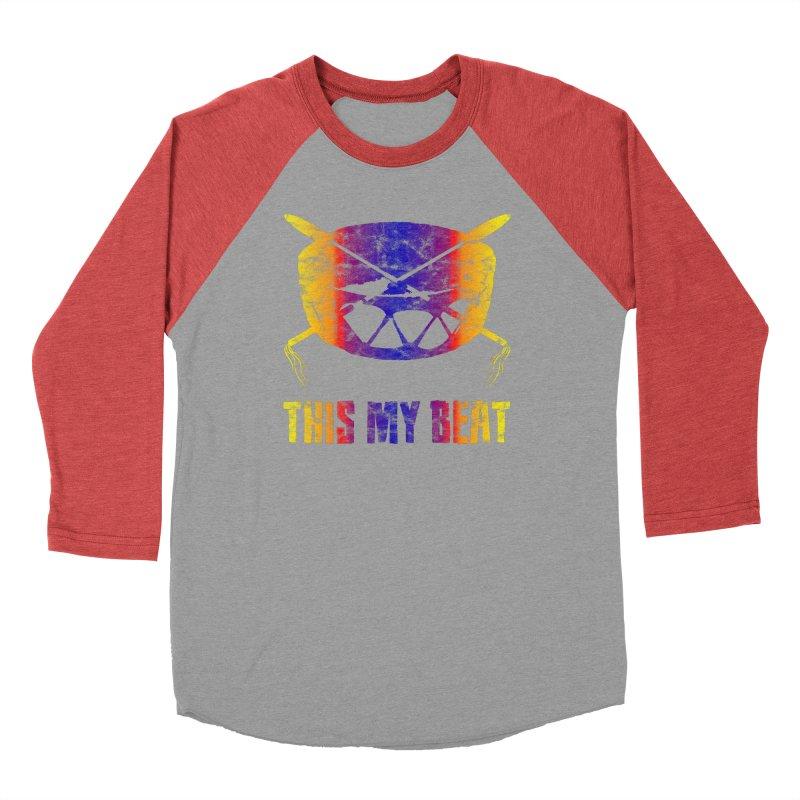 This My Beat #3 Men's Baseball Triblend Longsleeve T-Shirt by Shawnee Rising Studios