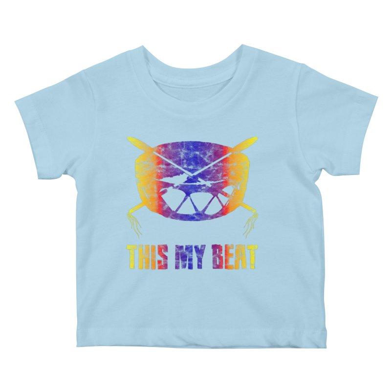 This My Beat #3 Kids Baby T-Shirt by Shawnee Rising Studios