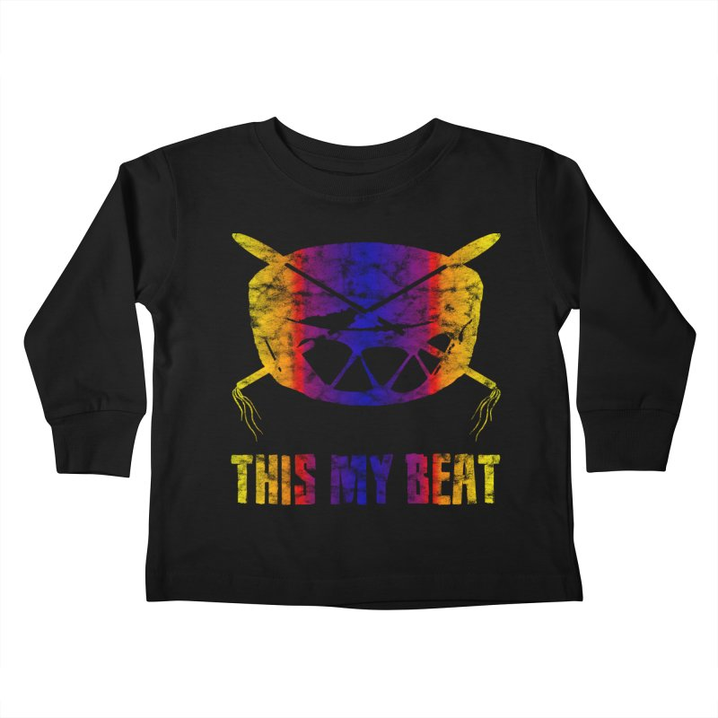This My Beat #3 Kids Toddler Longsleeve T-Shirt by Shawnee Rising Studios