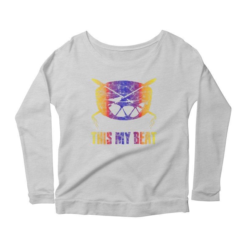 This My Beat #3 Women's Scoop Neck Longsleeve T-Shirt by Shawnee Rising Studios