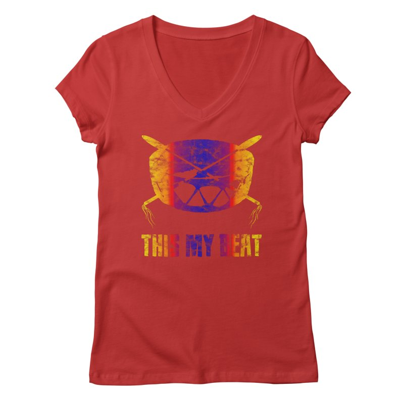 This My Beat #3 Women's Regular V-Neck by Shawnee Rising Studios