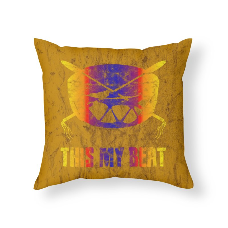 This My Beat #3 Home Throw Pillow by Shawnee Rising Studios