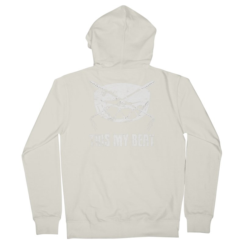 This My Beat #4 Men's French Terry Zip-Up Hoody by Shawnee Rising Studios