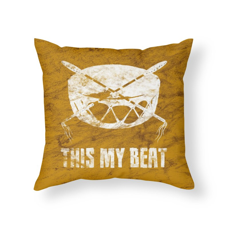 This My Beat #4 Home Throw Pillow by Shawnee Rising Studios