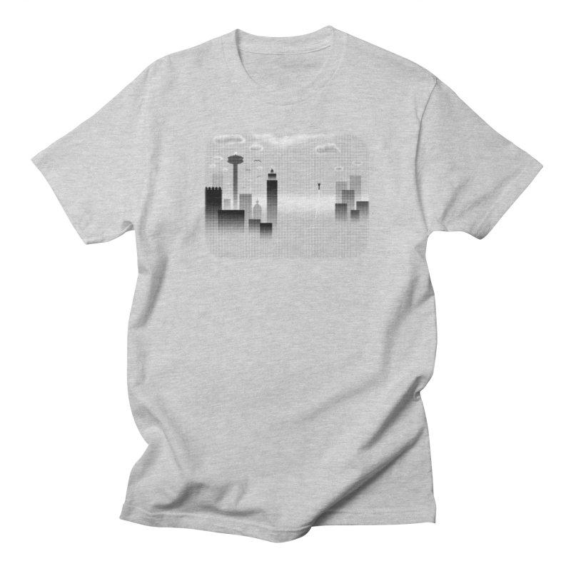 Hero's Flight in Men's Regular T-Shirt Heather Grey by Shawnee Rising Studios
