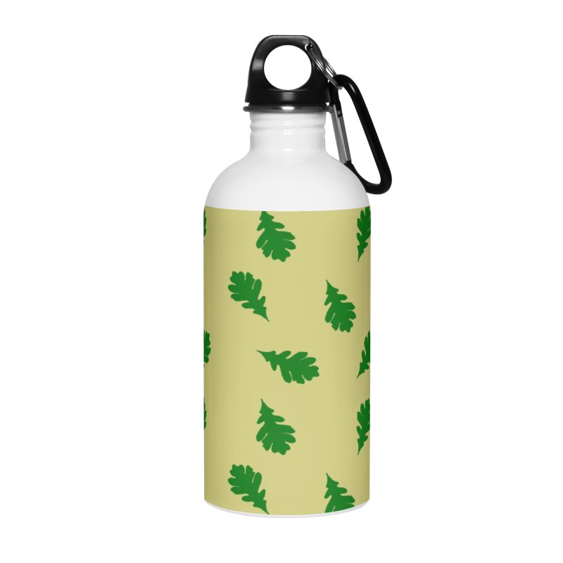 White Oak Leaf Accessories Water Bottle by Shawnee Rising Studios