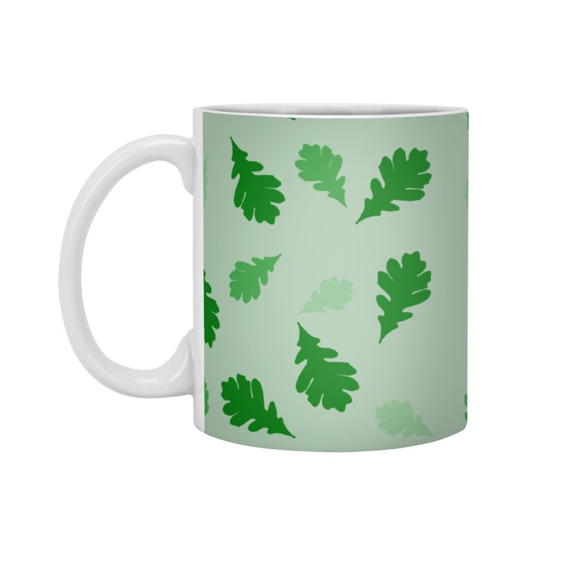 White Oak Leaf #2 Accessories Mug by Shawnee Rising Studios