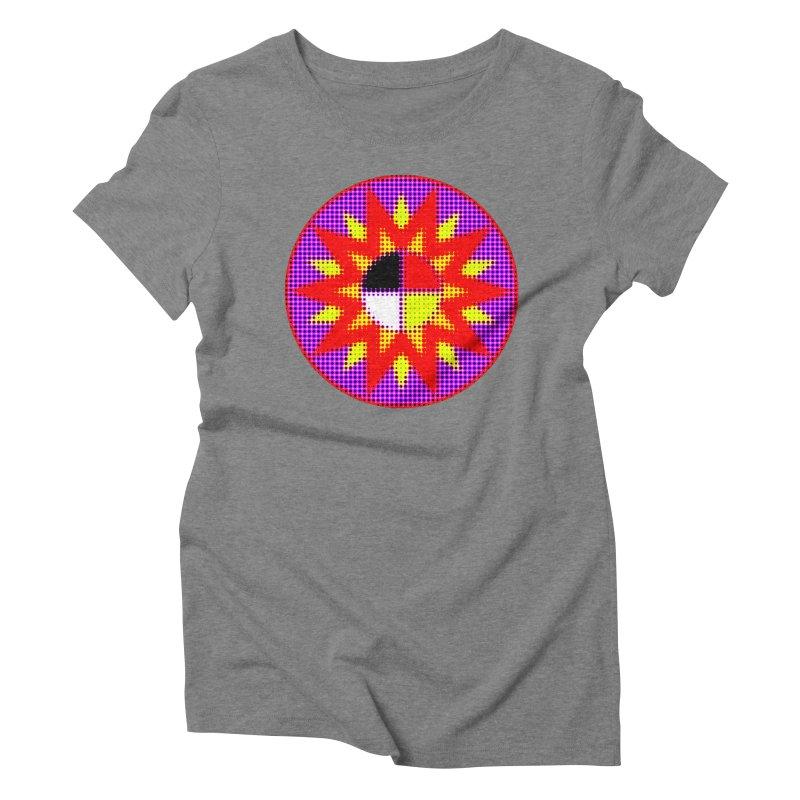 Burst of Color Women's Triblend T-Shirt by Shawnee Rising Studios