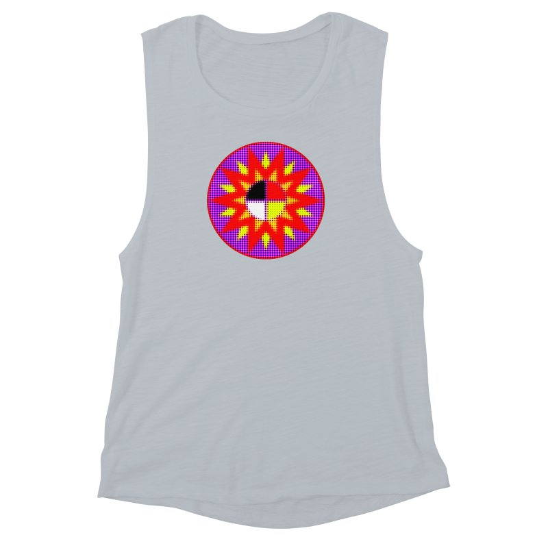 Burst of Color Women's Muscle Tank by Shawnee Rising Studios