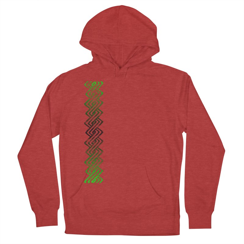 Guilloche Design Men's French Terry Pullover Hoody by Shawnee Rising Studios