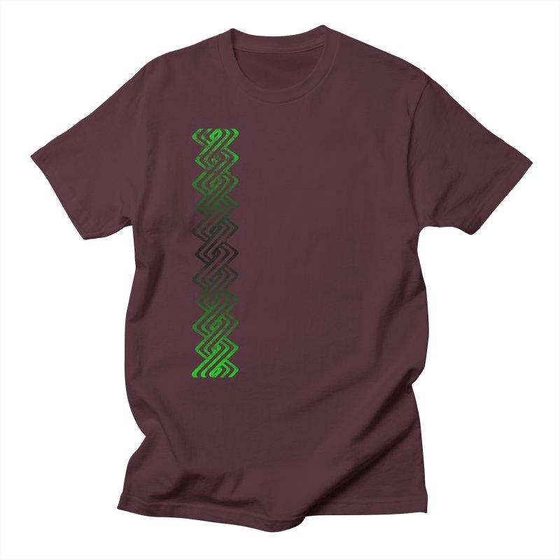 Guilloche Design Men's Regular T-Shirt by Shawnee Rising Studios