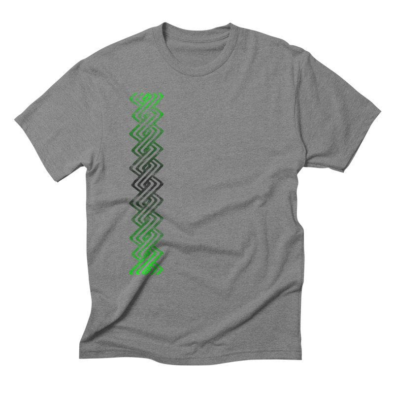 Guilloche Design Men's Triblend T-Shirt by Shawnee Rising Studios