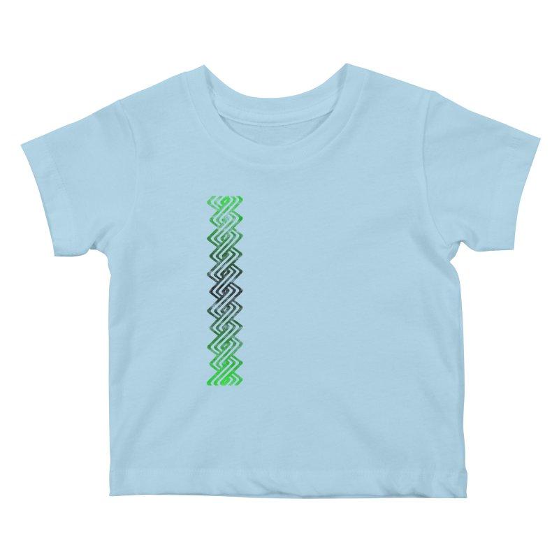Guilloche Design Kids Baby T-Shirt by Shawnee Rising Studios