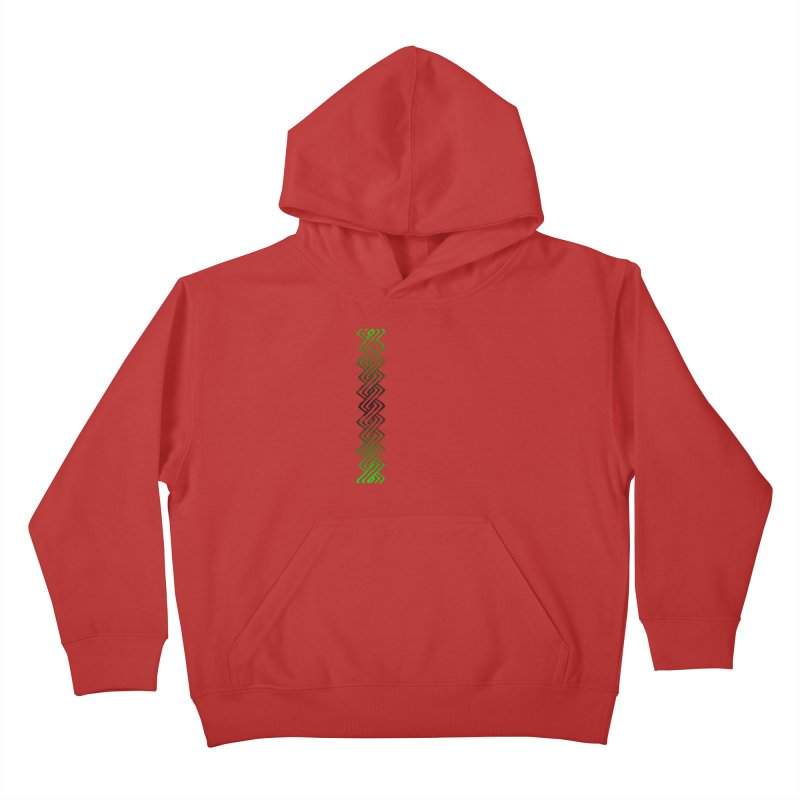 Guilloche Design Kids Pullover Hoody by Shawnee Rising Studios
