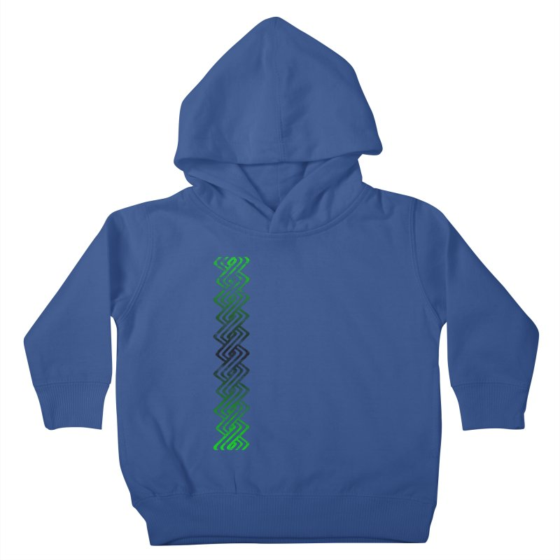 Guilloche Design Kids Toddler Pullover Hoody by Shawnee Rising Studios
