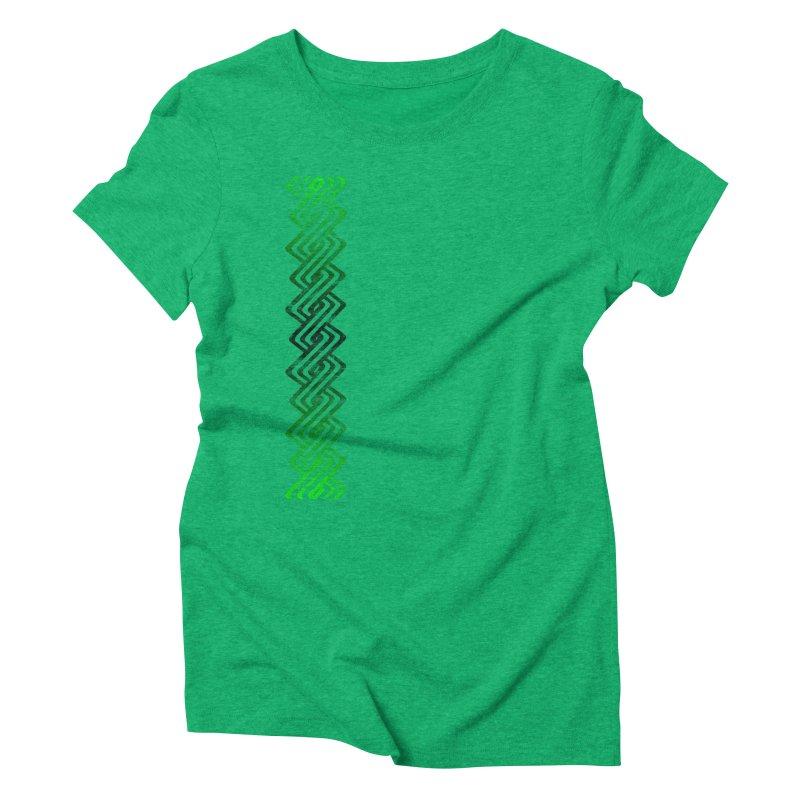 Guilloche Design Women's Triblend T-Shirt by Shawnee Rising Studios