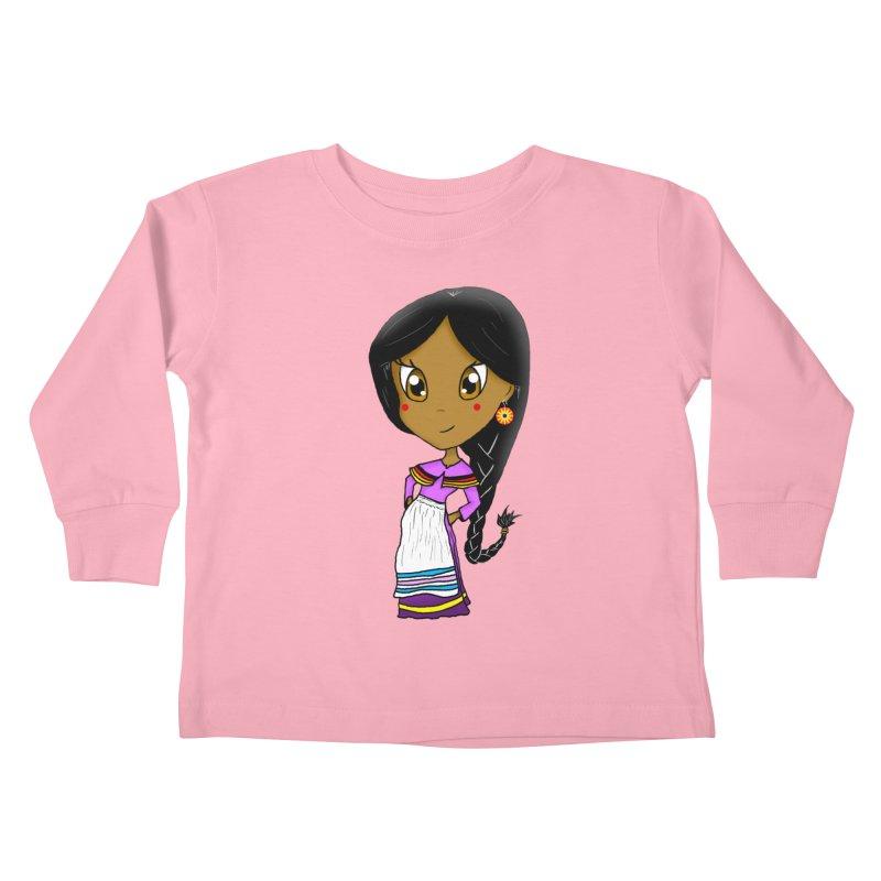 Kyamanyalapa! (Let's Dance!) Kids Toddler Longsleeve T-Shirt by Shawnee Rising Studios