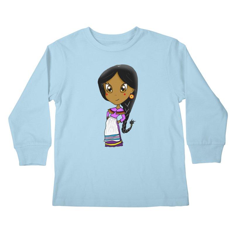 Kyamanyalapa! (Let's Dance!) Kids Longsleeve T-Shirt by Shawnee Rising Studios
