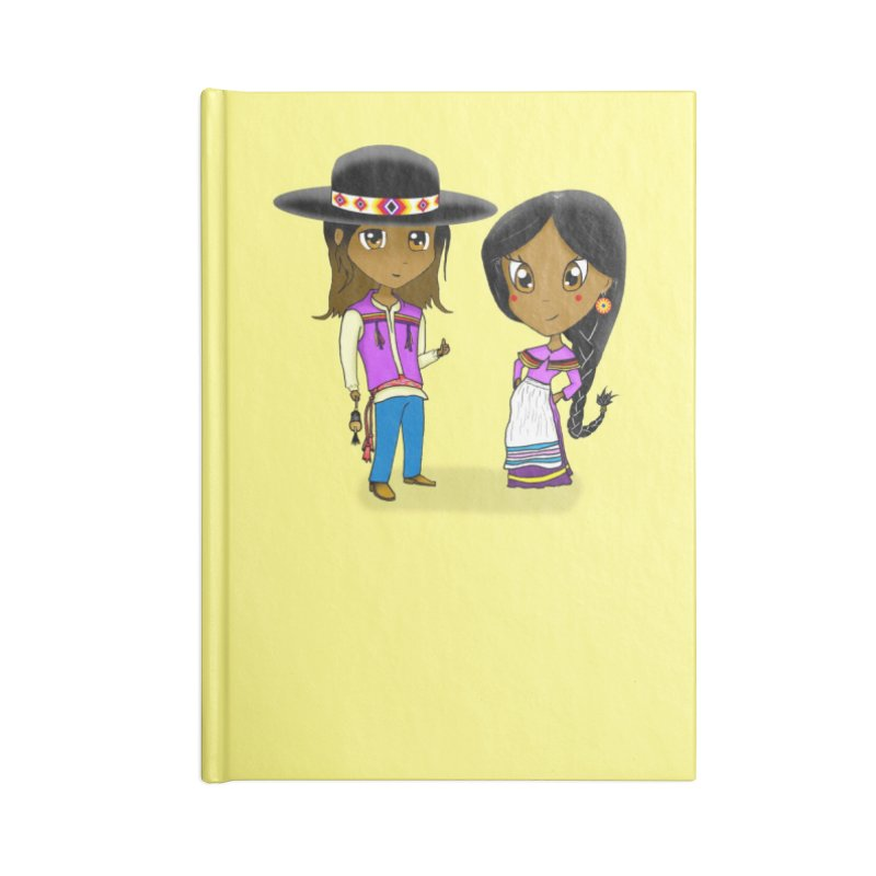 Gyikeweyafi Manyalako! (Everybody Dance!) Accessories Lined Journal Notebook by Shawnee Rising Studios