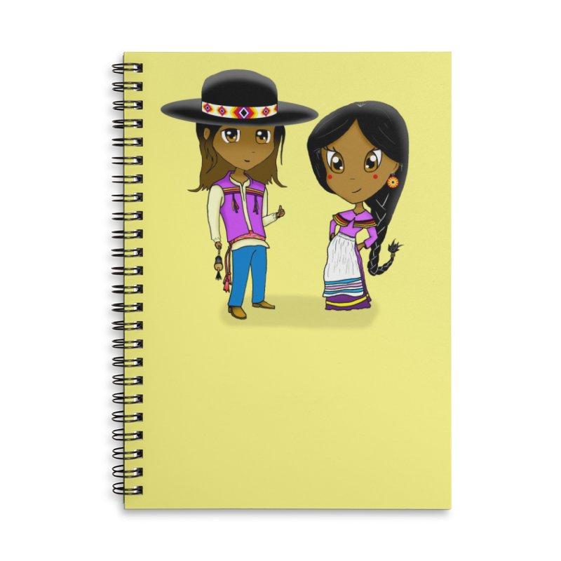 Gyikeweyafi Manyalako! (Everybody Dance!) Accessories Lined Spiral Notebook by Shawnee Rising Studios