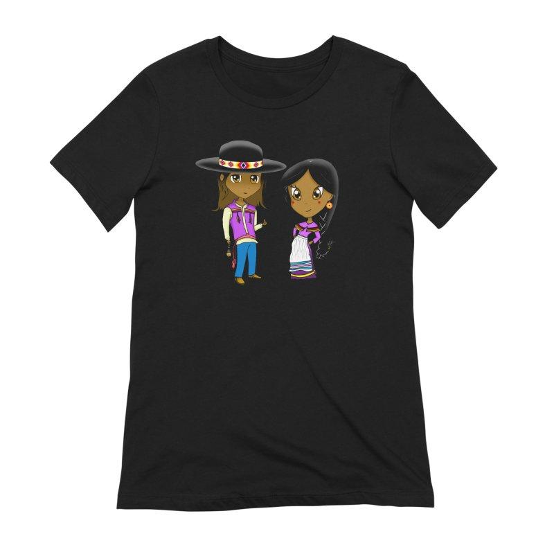 Gyikeweyafi Manyalako! (Everybody Dance!) Women's Extra Soft T-Shirt by Shawnee Rising Studios