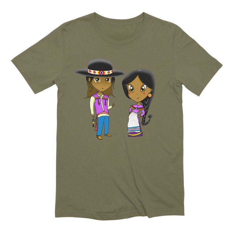 Gyikeweyafi Manyalako! (Everybody Dance!) Men's Extra Soft T-Shirt by Shawnee Rising Studios