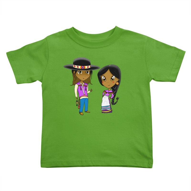 Gyikeweyafi Manyalako! (Everybody Dance!) Kids Toddler T-Shirt by Shawnee Rising Studios