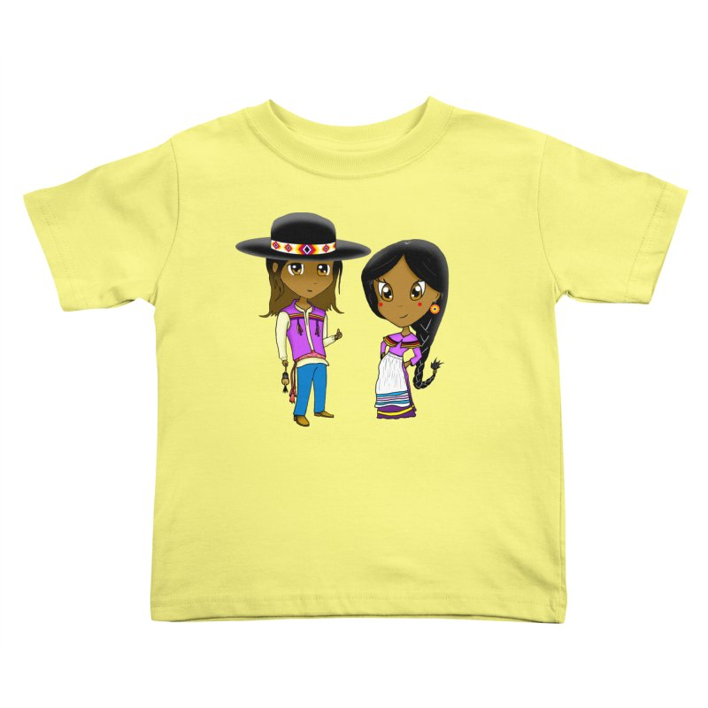 Gyikeweyafi Manyalako! (Everybody Dance!) in Kids Toddler T-Shirt Lemon by Shawnee Rising Studios