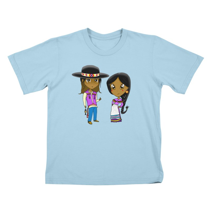 Gyikeweyafi Manyalako! (Everybody Dance!) Kids T-Shirt by Shawnee Rising Studios