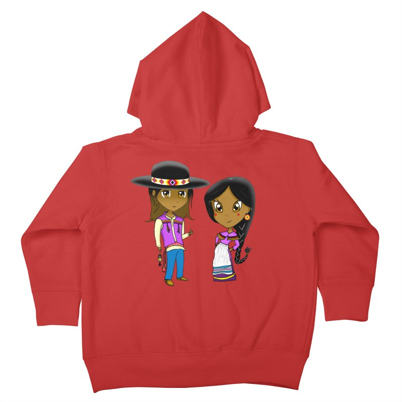Gyikeweyafi Manyalako! (Everybody Dance!) Kids Toddler Zip-Up Hoody by Shawnee Rising Studios