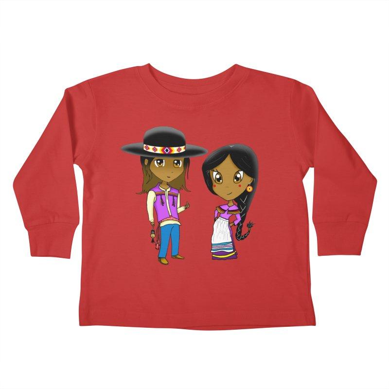 Gyikeweyafi Manyalako! (Everybody Dance!) Kids Toddler Longsleeve T-Shirt by Shawnee Rising Studios