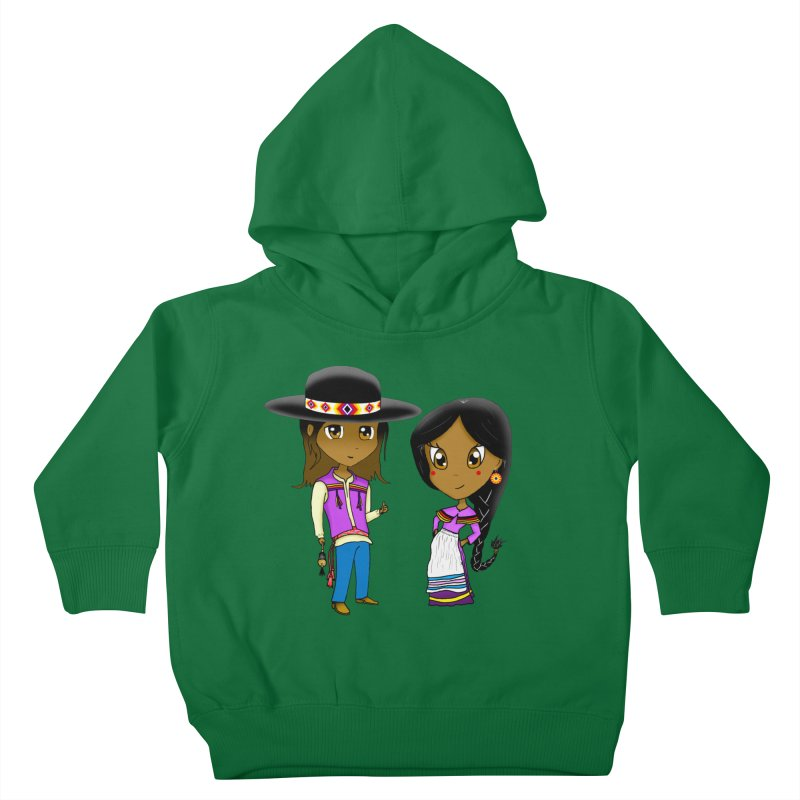 Gyikeweyafi Manyalako! (Everybody Dance!) Kids Toddler Pullover Hoody by Shawnee Rising Studios