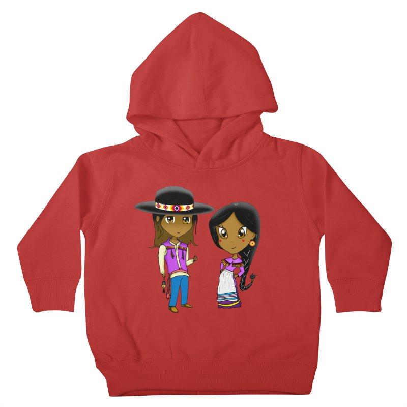 Gyikeweyafi Manyalako! (Everybody Dance!) Kids Toddler Pullover Hoody by Shawnee Rising Studios
