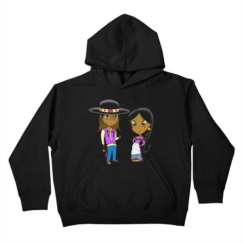 Gyikeweyafi Manyalako! (Everybody Dance!) Kids Pullover Hoody by Shawnee Rising Studios