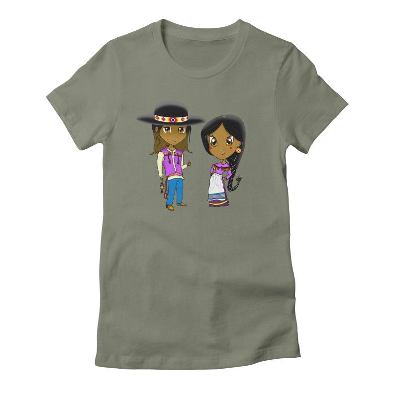 Gyikeweyafi Manyalako! (Everybody Dance!) Women's Fitted T-Shirt by Shawnee Rising Studios
