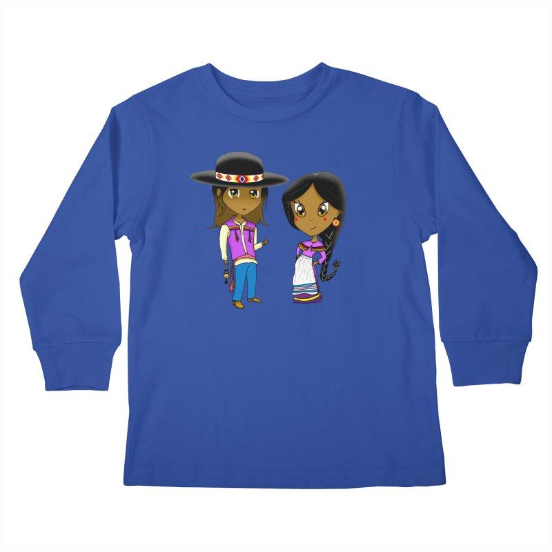 Gyikeweyafi Manyalako! (Everybody Dance!) Kids Longsleeve T-Shirt by Shawnee Rising Studios