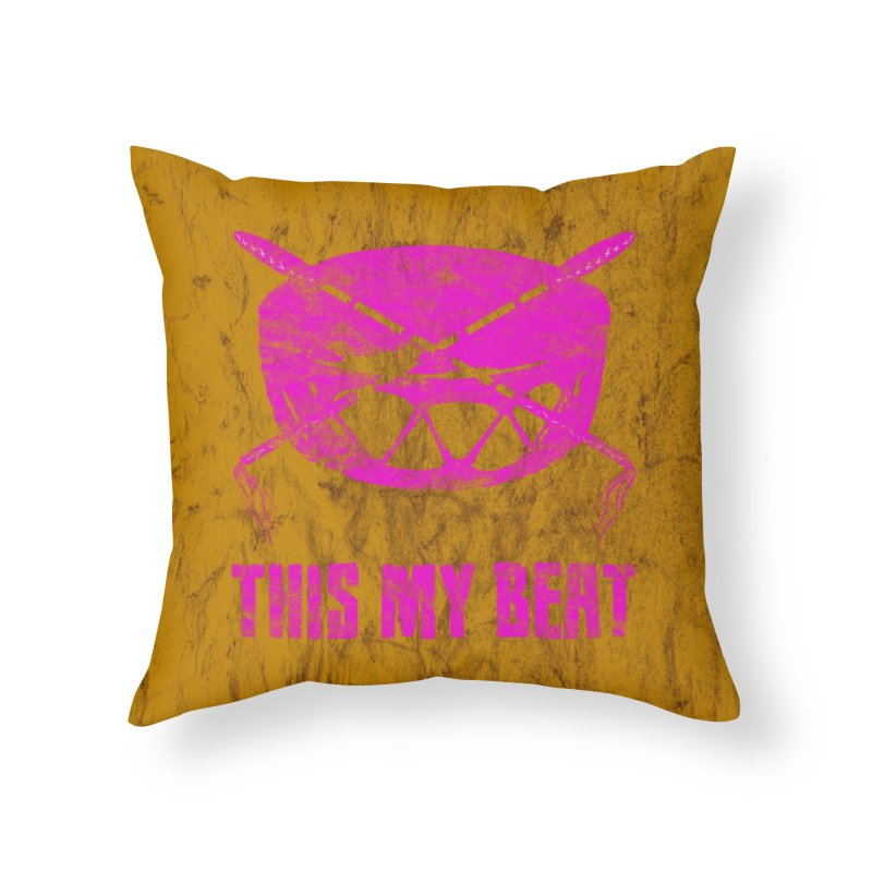 This My Beat #5 Home Throw Pillow by Shawnee Rising Studios