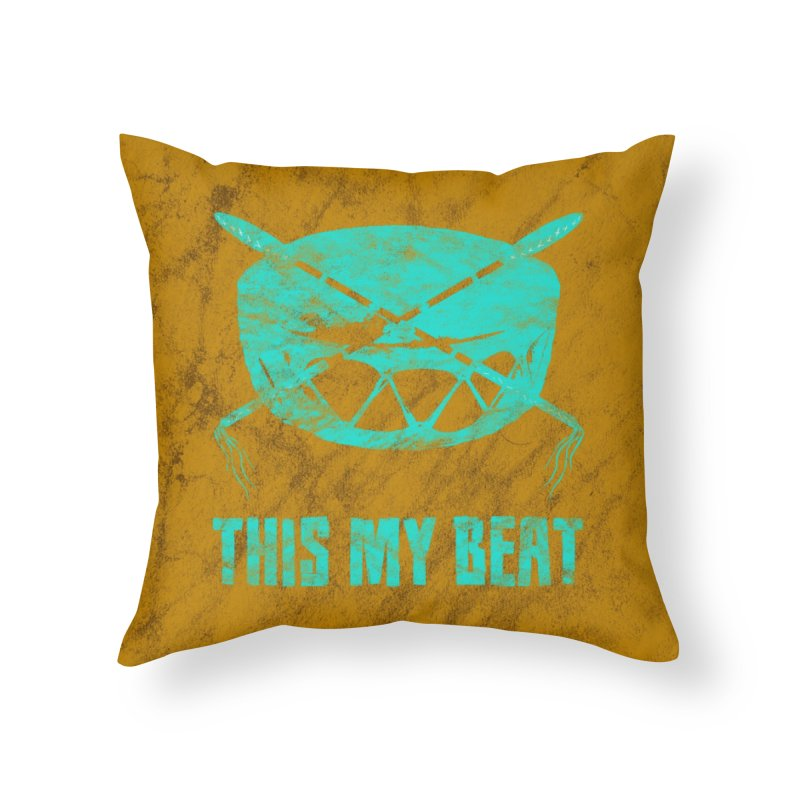 This My Beat #6 in Throw Pillow by Shawnee Rising Studios