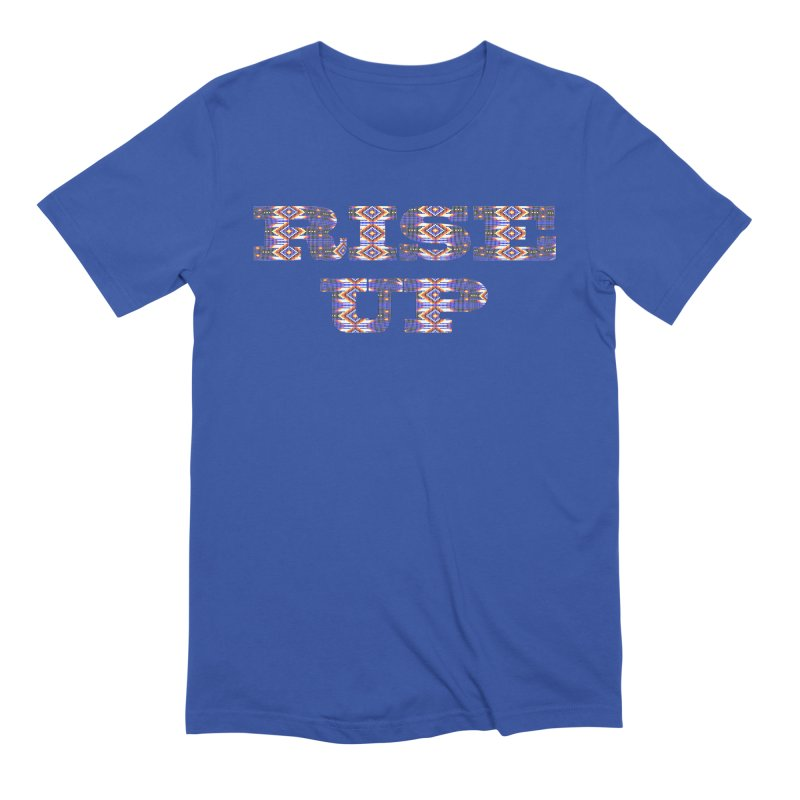 RISE UP Men's Extra Soft T-Shirt by Shawnee Rising Studios