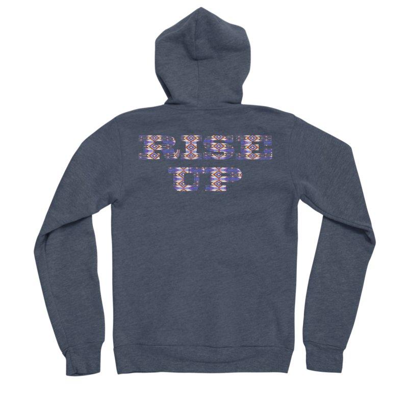 RISE UP Men's Sponge Fleece Zip-Up Hoody by Shawnee Rising Studios