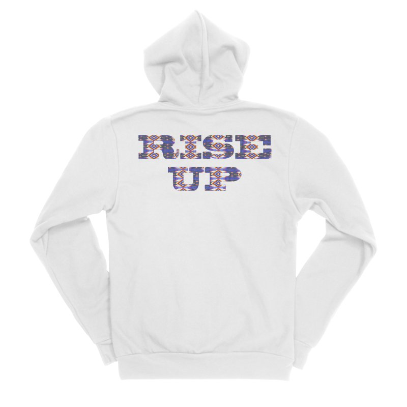 RISE UP Men's Sponge Fleece Zip-Up Hoody by Shawnee Rising Studios