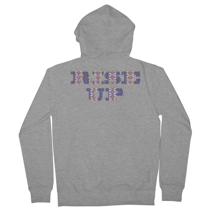 RISE UP Men's French Terry Zip-Up Hoody by Shawnee Rising Studios
